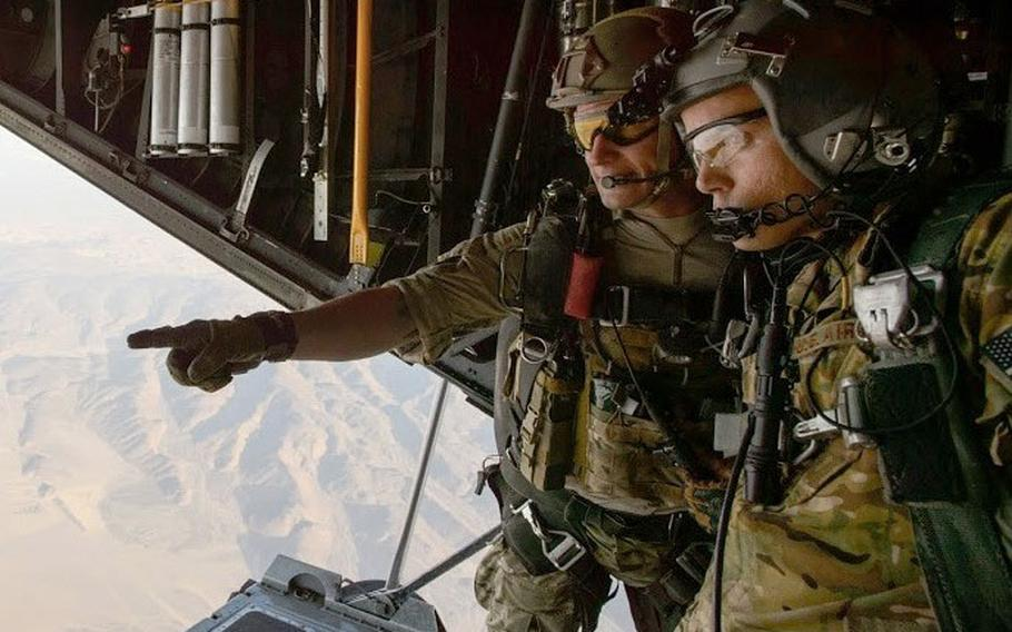 William R. Posch (left), a pararescue craftsman with Air Force Reserve Command's 308th Rescue Squadron at Patrick AFB, Fla.