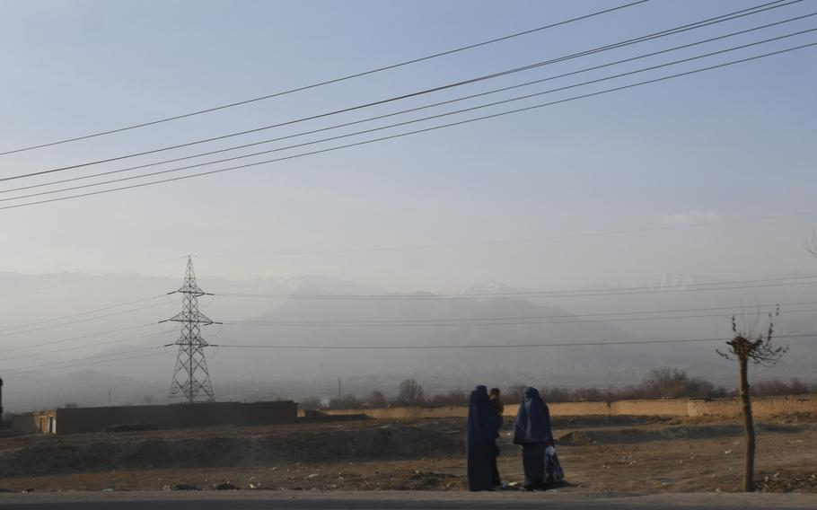 The United States has funded the construction of high power lines like the ones pictured here on Sunday, Dec. 24, 2017, in Parwan province in the hopes of electrifying Afghanistan and bringing economic development as well as lower costs for powering equipment at the many Afghan military outposts dotting the country's landscape.