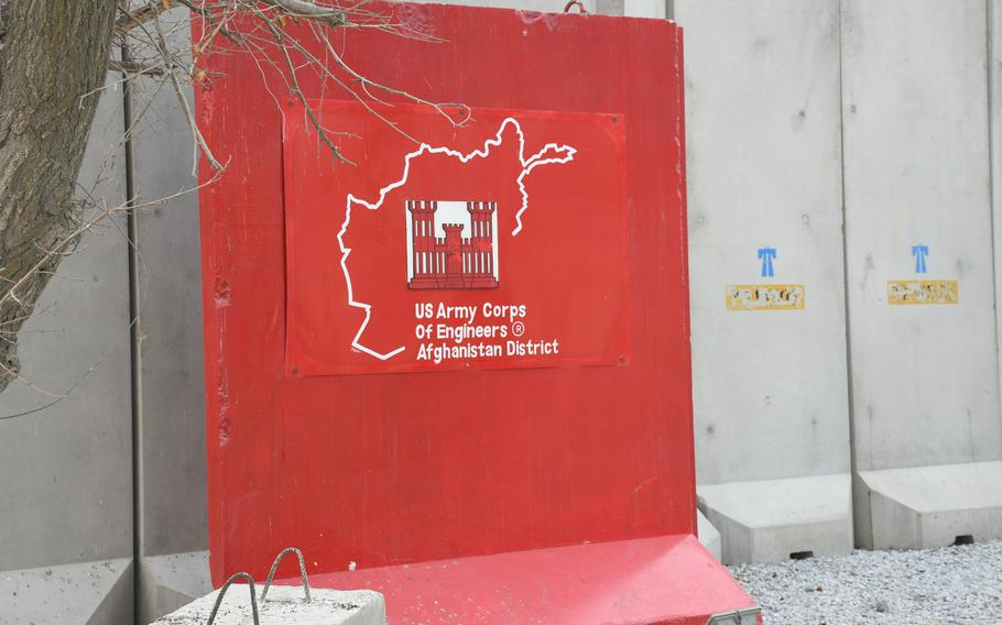 Pictured here on Wednesday, Dec. 20, 2017, at Bagram Air Field, Afghanistan, is the emblem of the U.S. Army Corps of Engineers Afghanistan District.