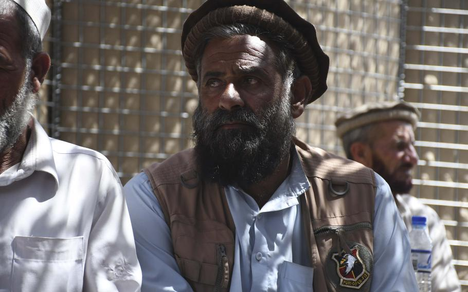 Ghulam Sakhi, commander of the Afghan Local Police in Deh Bala district in Nangarhar province, said Saturday, July 7, 2018, that operations with U.S. Special Forces and Afghan commandos to clear the area of Islamic state fighters means locals and Taliban fighters can soon return to the valley.