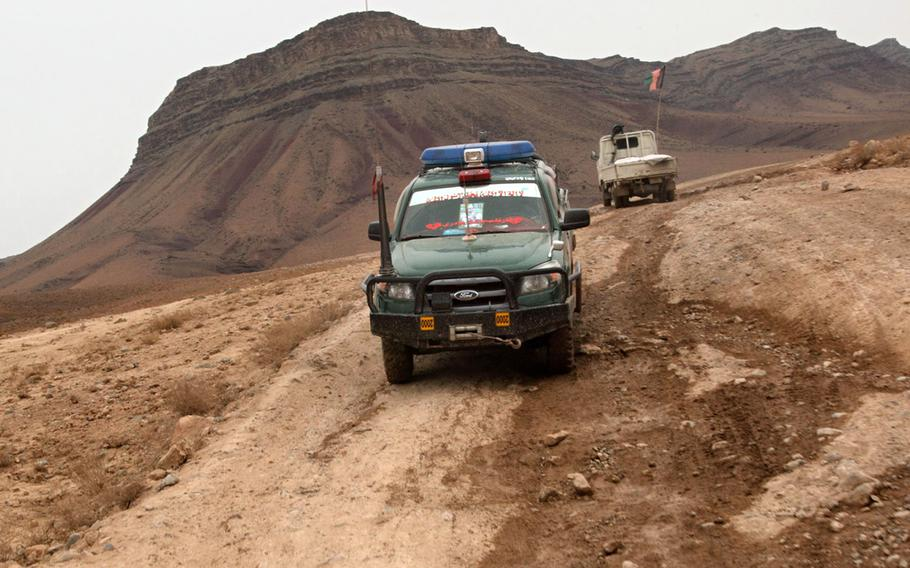 A convoy in Afghanistan in 2013.