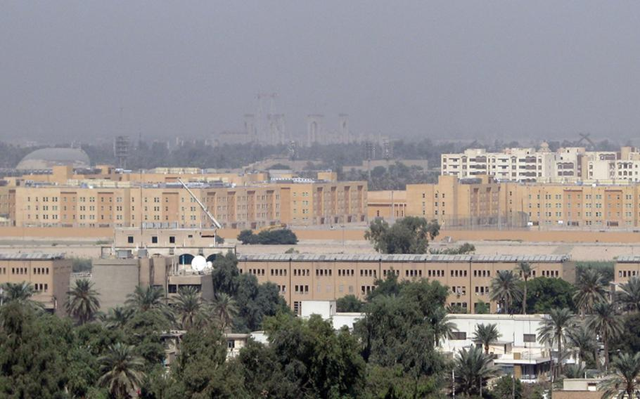 A rocket attack on the heavily fortified Baghdad Green Zone hit the U.S. Embassy on Sunday, Jan. 26, 2020.