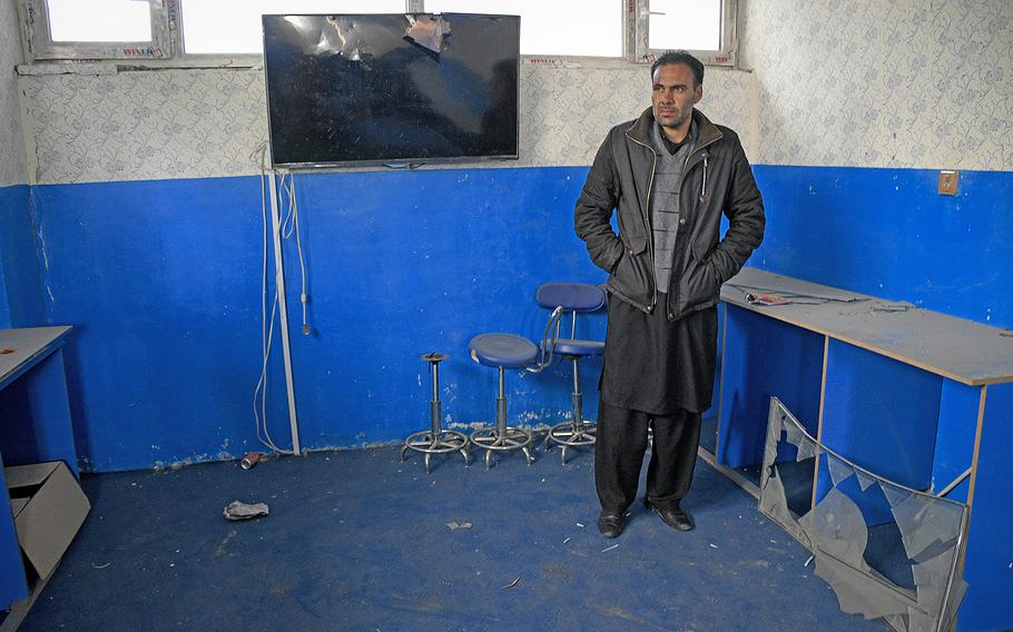 """Bakhtullah Shinwari, a science teacher who was injured along with 50 schoolchildren in a Taliban truck bombing last July, said on Saturday Feb. 22, 2020, he remained hopeful an agreed reduction of violence between the Taliban and the U.S. will lead to the end of war in his country. """"Inshallah, peace will come to Afghanistan,"""" Shinwari said."""