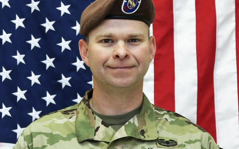 Command Sgt. Maj. Timothy A. Bolyard, who was killed in an insider attack in Afghanistan on Sept. 3, 2018, ''didn't go down without a fight,'' his son Preston Bolyard said after reading a recently released Army report that gave more details about the attack.