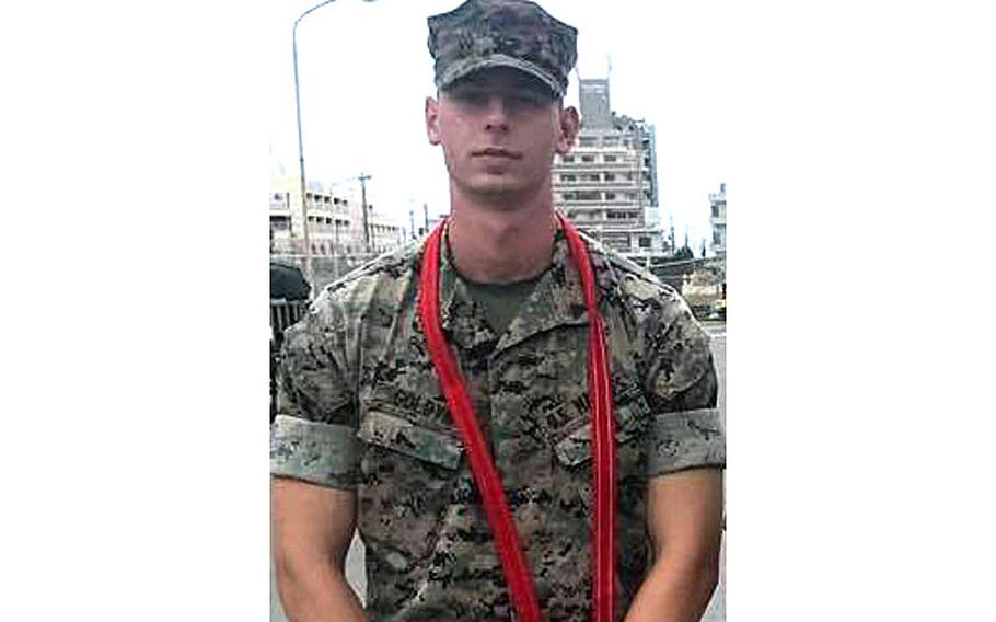 Sgt. Trevor Goldyn seen after he had been promoted to corporal.