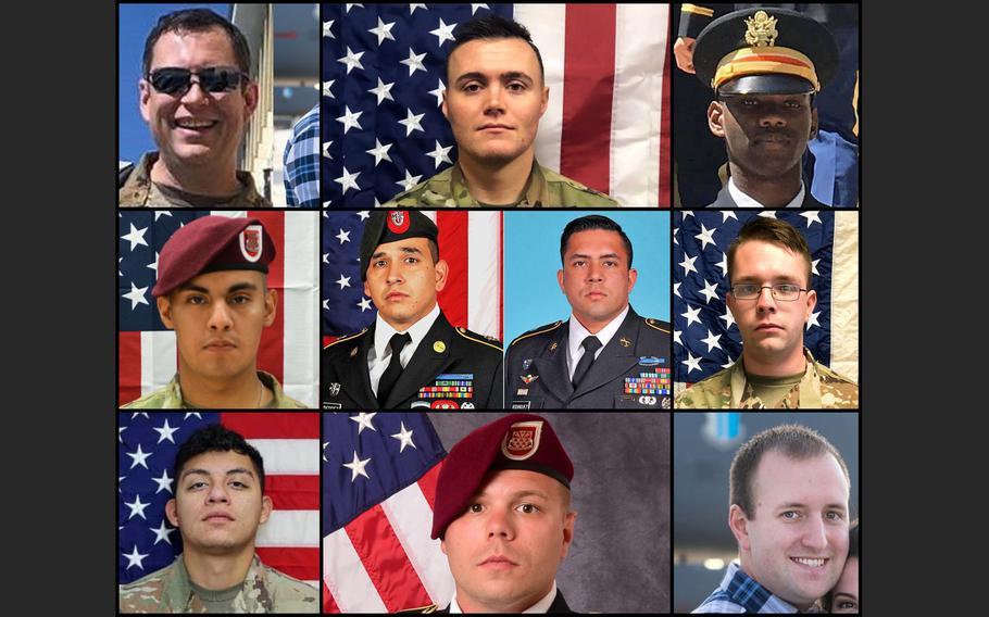 Ten American service members died in Afghanistan in 2020.