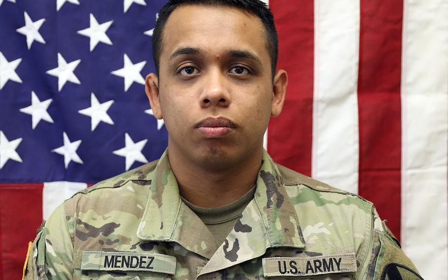 Army Spc. Juan Miguel Mendez Covarrubias, 27, of Hanford, Calif., was killed Wednesday, March 11, 2020, during a rocket attack in Iraq. He was with the 1st Cavalry Division's 1st Air Cavalry Brigade out of Fort Hood, Texas.