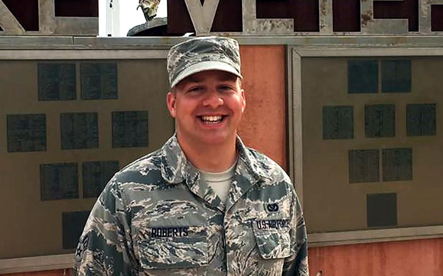 Oklahoma Air National Guardsman, Staff Sgt. Marshal Roberts, 28, was killed Wednesday, March 11, 2020, during a rocket attack in Iraq. Roberts served with the 219th Engineering Installation Squadron, 138th Fighter Wing, which is deployed in support of Operation Inherent Resolve.