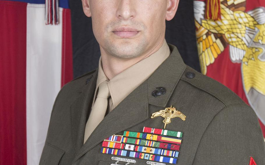 Gunnery Sgt. Diego D. Pongo, a critical skills operator from Simi Valley, Calif.,  suffered fatal wounds while accompanying Iraqi Security Forces during a mission to eliminate an ISIS stronghold in a mountainous area of north-central Iraq. He was 34 years old and assigned to 2nd Marine Raider Battalion.