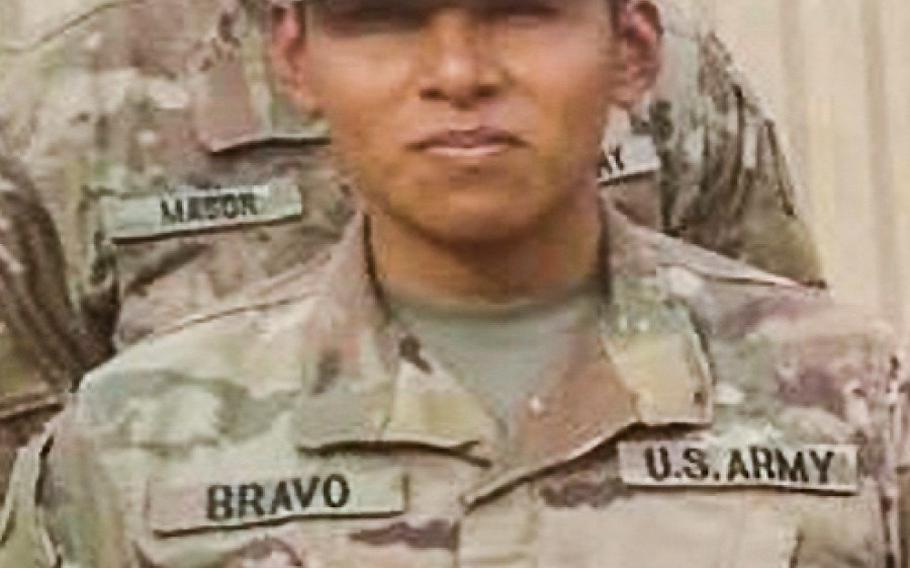 Spc. Nick Bravo-Regules, of Largo, Fla., died June 23 in Jordan of injuries sustained in a noncombat related incident. Bravo-Regules was on his first deployment, in support of Operation Inherent Resolve, which is fighting the Islamic State in Iraq and Syria.