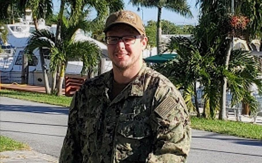 Petty Officer 2nd Class Ian McKnight went overboard from the USS Nimitz as it operated in the North Arabian Sea on Sept. 6. An extensive search for him was called off on Sept. 8.