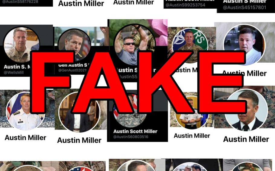 Scammers are using Gen. Scott Miller's likeness and photos to create fake social media profiles, a U.S. Forces - Afghanistan spokesman said March 16, 2021.