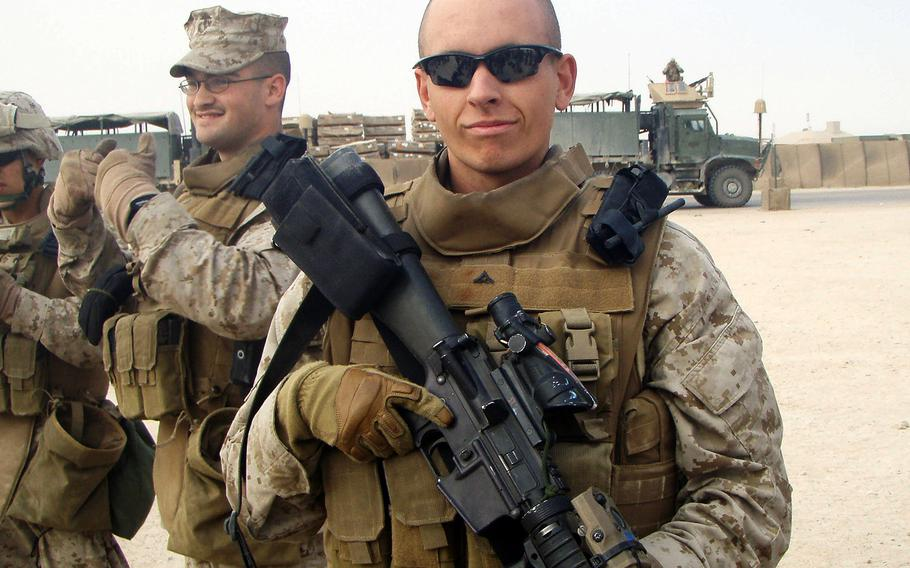 Lance Cpl. Jordan Haerter was posthumously awarded the Navy Cross along with Cpl. Jonathan Yale for their bravery on April 22, 2008 in Ramadi, Iraq. Haerter and Yale stood their ground and stopped a truck carrying 2,000 pounds of explosives. The two Marines died in the blast, but it's estimated that their actions saved the lives of 50 Marines and more Iraqis.