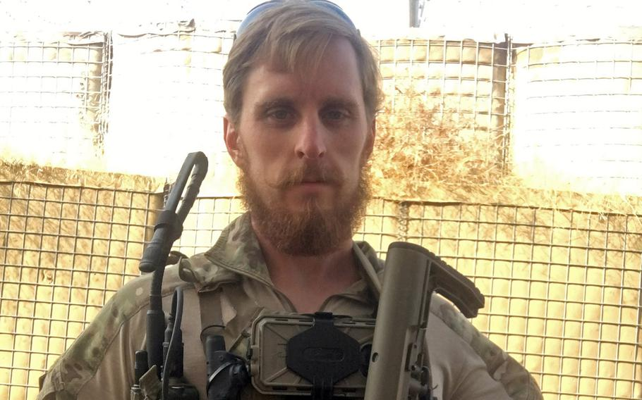 U.S. Air Force Staff Sgt. Michael Rogers, 57th Rescue Squadron pararescueman, is seen here while deployed to Afghanistan in the winter of 2019. Rogers is scheduled to receive the 2021 Air Force Sergeants Association Pitsenbarger Award in July for treating seven people after an explosion at a Taliban weapons site.