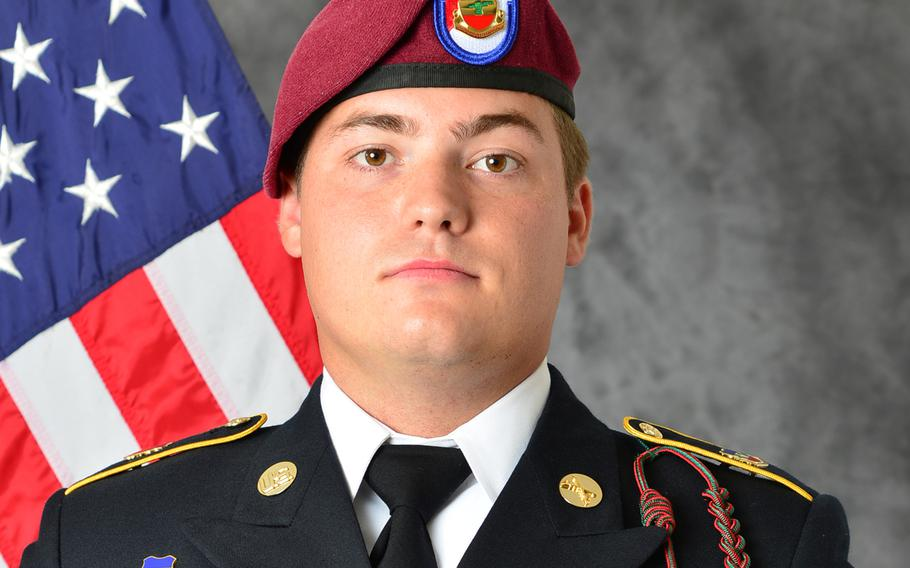 """Sgt. Bryan """"Cooper"""" Mount, 25, of St. George, Utah, was killed Tuesday when his mine resistant ambush protected all-terrain vehicle rolled over while on a security patrol in northeastern Syria."""