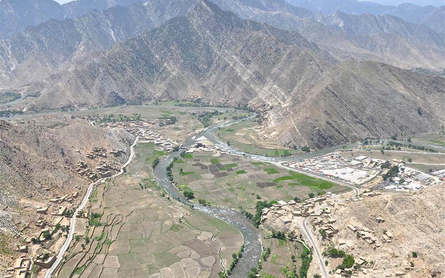 Forward Operating Base Blessing sits along the Pech River in the center of the river valley that traverses the troubled Kunar province in Afghanistan.