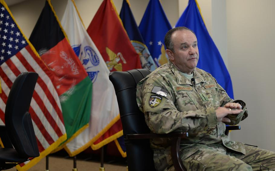 Supreme Allied Commander-Europe Air Force Gen. Philip Breedlove outlines the transition of U.S. forces to a post-combat mission in Afghanistan during a  Jan. 8, 2015 interview. In December, U.S. and NATO forces officially ended 13 years of combat operations in the country.