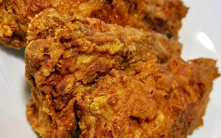 Fried pork ribs prepared by Chief Petty Officer Markeeta Hardin at Naval Support Activity Bahrain.