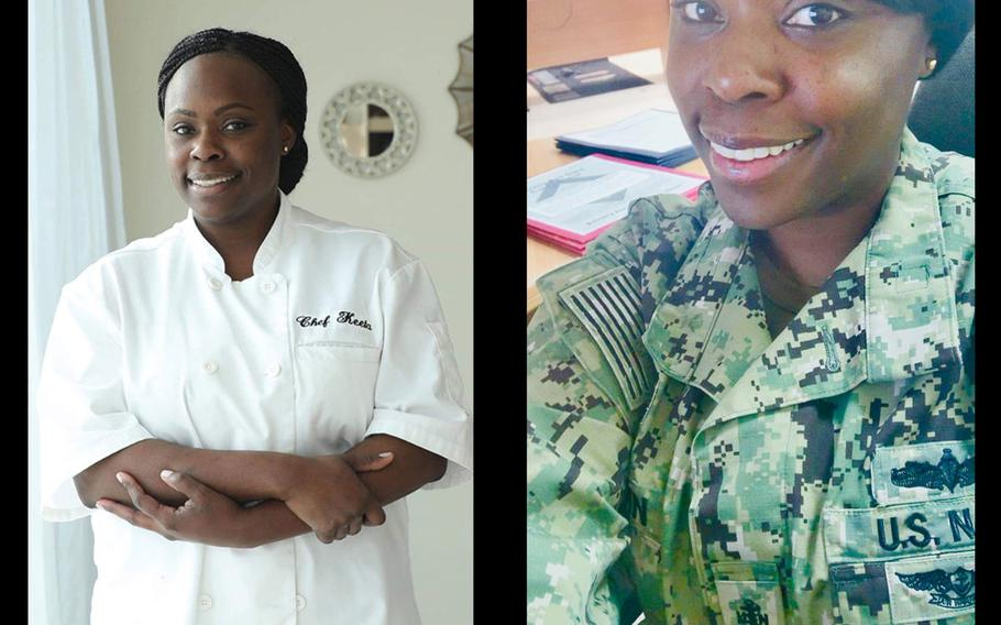 Chief Petty Officer Markeeta Hardin, also known as Chef Keeta, has been cooking most of her life.  Courtesy Keeta Hardin
