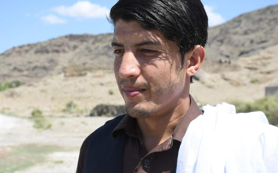 Afghan soldier Nematullah, speaks to Stars and Stripes in Kunar, Afghanistan, on Aug. 17, 2019, describing how he was captured by the Taliban in Uruzgan province a year before.