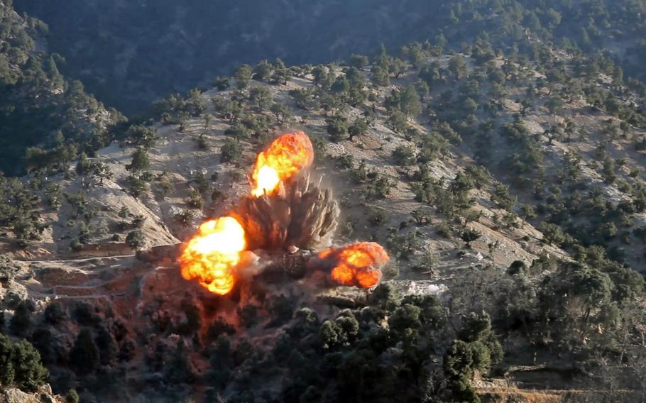 Two coalition airstrikes eliminated ISIS fighters and facilities in the Nangarhar and Jowzjan provinces of Afghanistan, Feb. 6, 2018. The U.S. is expected to intensify operations in Afghanistan following the collapse of peace talks with the Taliban.