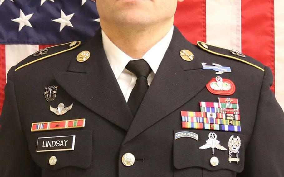 Army Sgt. 1st Class Will D. Lindsay, 33, of Cortez, Colo., died March 22, 2019, after being wounded during combat in northern Kunduz province.