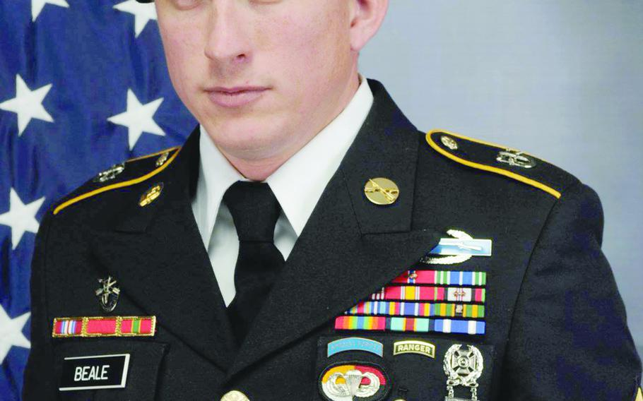 Army Sgt. 1st Class Joshua Zach Beale, 32, was killed by small arms fire in southern Uruzgan province on Jan. 22, 2019.