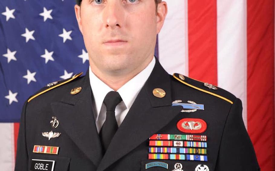 Sgt. 1st Class Michael J. Goble, 33, was killed in a roadside bombing in northern Kunduz province on Dec.23, 2019.