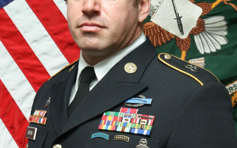 Army Sgt. 1st Class Jeremy W. Griffin, 40, was killed by small-arms fire in central Wardak province, Sept. 16, 2019.
