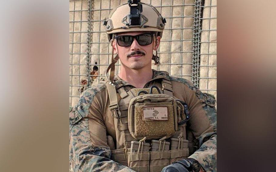 Marine Sgt. Robert A. Hendriks, 25, was one of three Marines killed  by a car bomb explosion outside Bagram Airfield, April 8, 2019.