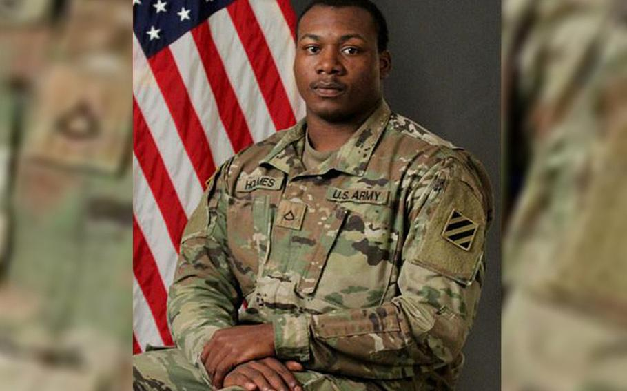 Army Spc. Miguel L. Holmes, 22, died in eastern Nangarhar province from wounds sustained in a noncombat incident on May 6, 2019.