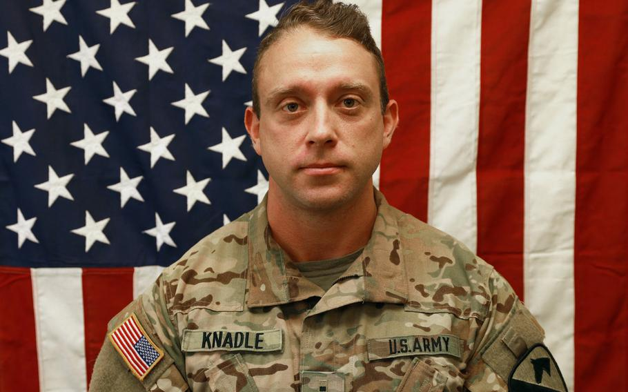 Army Chief Warrant Officer 2 David C. Knadle, 33, was killed in a helicopter crash while providing security to ground troops in eastern Logar Province, Nov. 20, 2019.