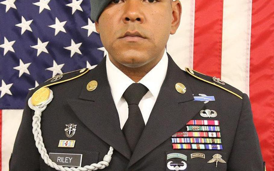Army Master Sgt. Micheal B. Riley, 32, was killed by small-arms fire in southern Uruzgan province on June 25, 2019.