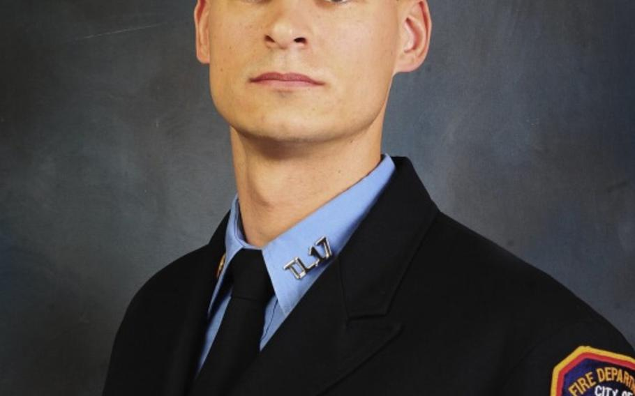 New York City firefighter and Marine Staff Sgt. Christopher K. A. Slutman, 43, was killed by a car bomb outside Bagram Airfield on April 8, 2019.