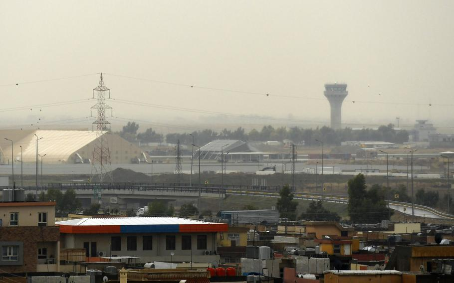 The Irbil International Airport in the capital of Iraq's Kurdistan region is pictured here on Wednesday, Jan. 8, 2020, hours after an Iranian missile attack.