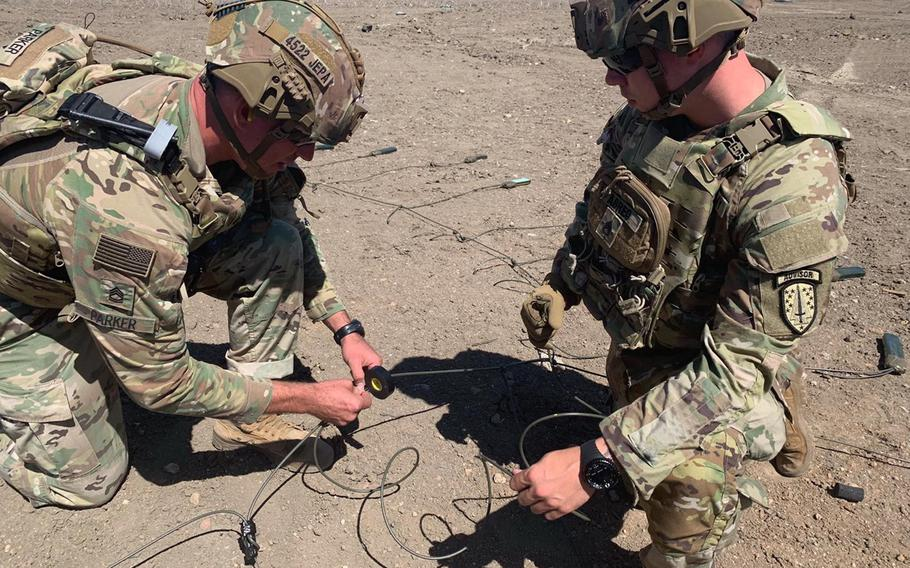 Soldiers with the 4th Security Force Assistance Brigade conduct training, Jan. 9, 2020. The 4th SFAB, based at Fort Carson, Colo., is due to deploy to Afghanistan in the fall.