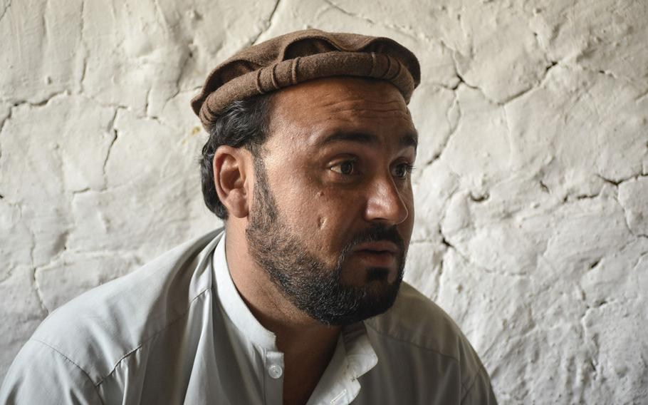 Dost Mohammad, commander of 150 militia fighters in Achin district, Nangarhar province, in eastern Afghanistan, says Taliban fighters increased their attacks after U.S. forces left two bases in the area, in May and July.