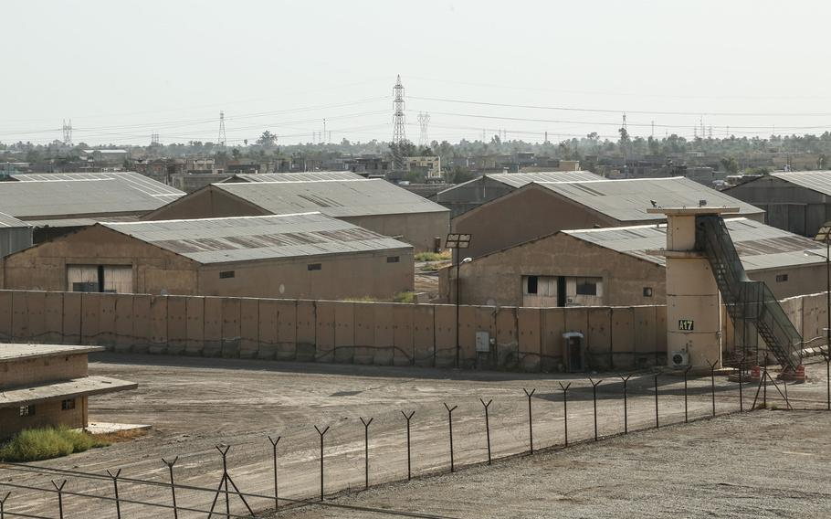 A view of Camp Taji, Iraq, from the top of a building, Aug. 7, 2020. The U.S. transferred $350 million in equipment and property on the bsae to Iraqi security forces on Aug. 23, 2020.