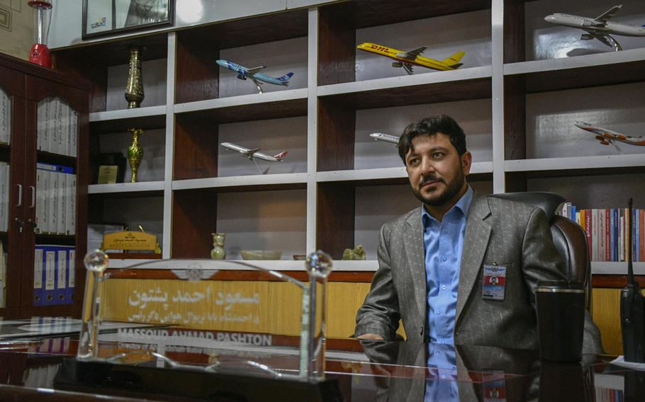 Massoud Pashtoon, director of civil aviation at the international airport in Kandahar, Afghanistan, says his staff are not ready to run the airport without support from the U.S. and NATO.