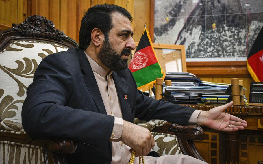 Hayatullah Hayat, governor of Kandahar province, says training that was meant to prepare Afghans to take over the running of airports when the U.S. and NATO leave has been delayed by the coronavirus pandemic, and eventually canceled because of a lack of trainees with the basic qualifications.