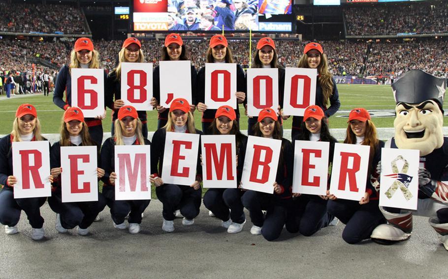 The New England Patriots cheerleaders.