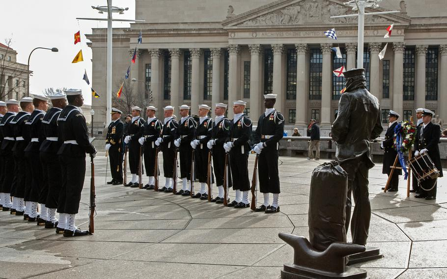 Sailors participate in the Pearl Harbor Remembrance Day on Dec. 7, 2013 in Washington, D.C.