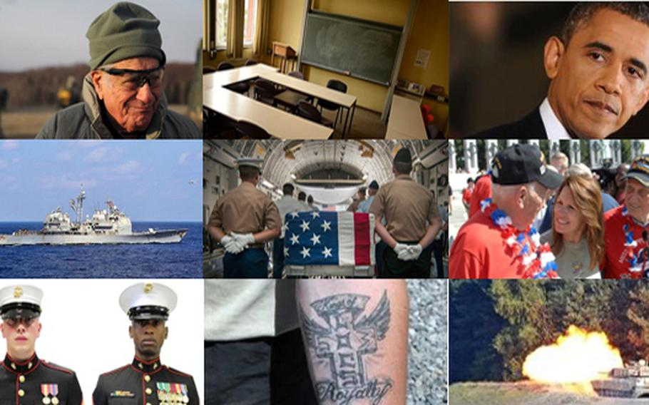 Images from some of the most popular stories on Stripes.com in 2013.