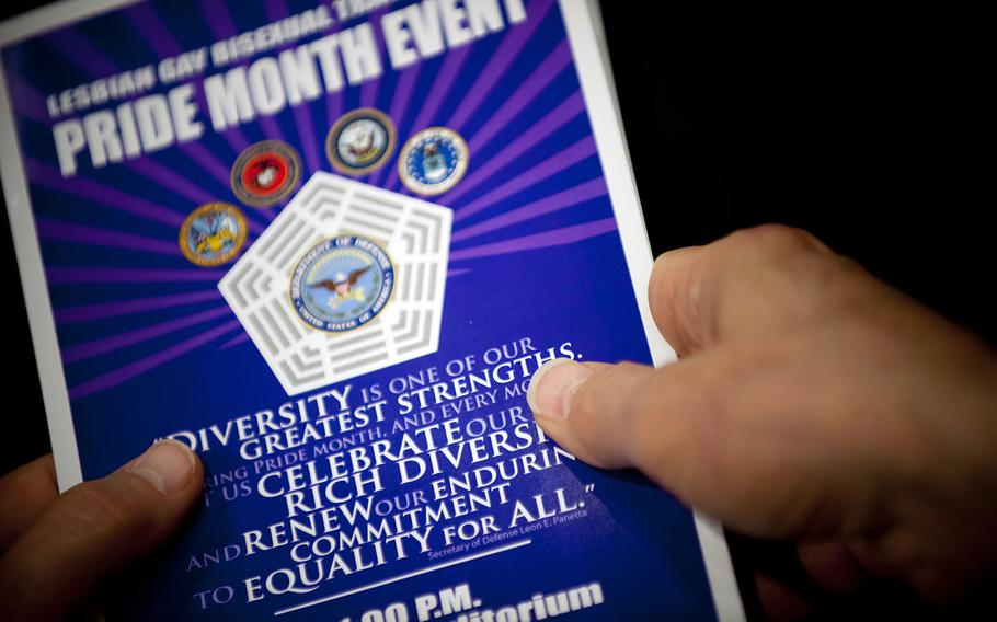 The Pentagon celebrates Lesbian, Gay, Bi-Sexual, and Transgender Pride Month at an event in the Pentagon Auditorium, Washington, D.C., June 26, 2012.