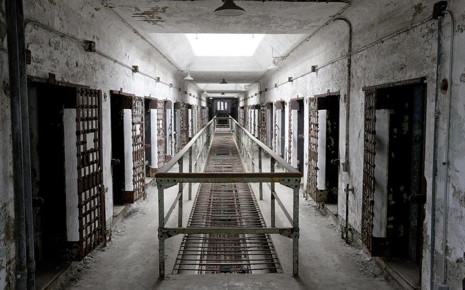 This Oct. 13, 2014, photo shows cellblock 12 at Eastern State Penitentiary in Philadelphia. The penitentiary took in its first inmate in 1829, closed in 1971 and reopened as a museum in 1994.