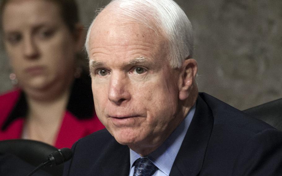 Sen. John McCain, R-Ariz., shown here at a committee hearing in July 2014.