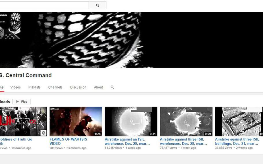 A screen capture of CENTCOM's hacked YouTube page.