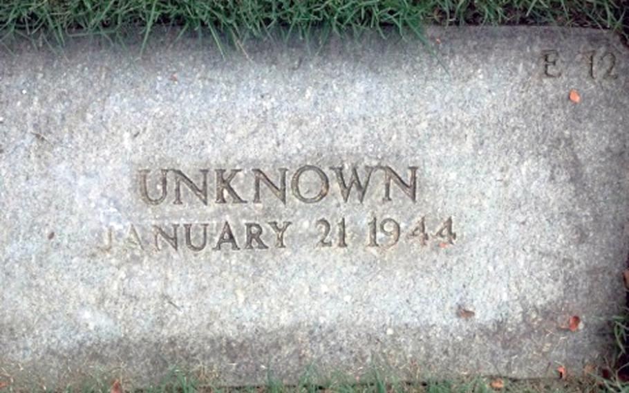 A grave marker at the Punchbowl in Hawaii.