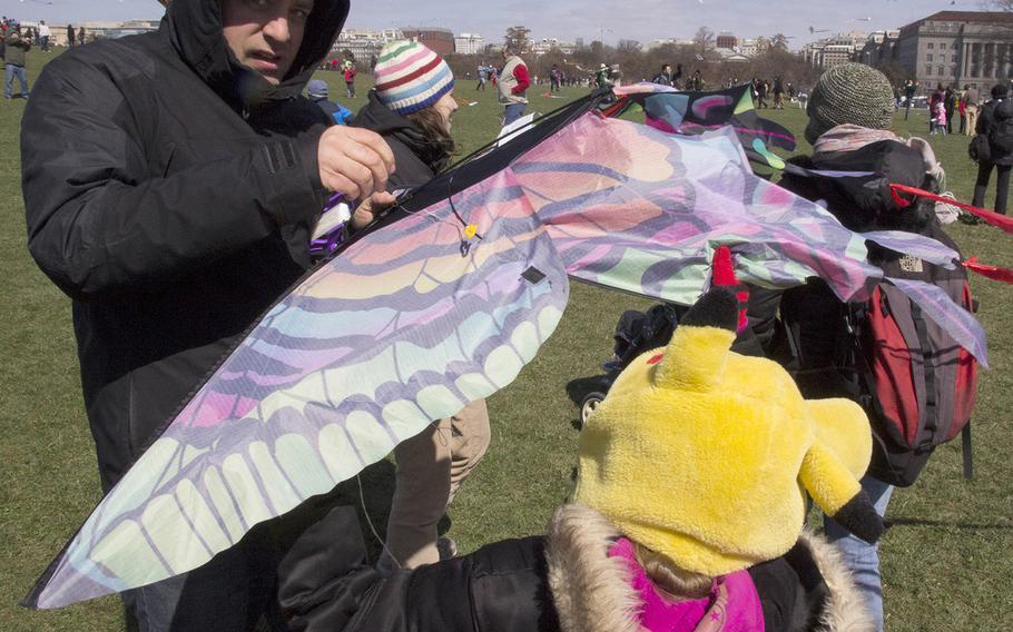 The fifth annual Blossom Kite Festival in Washington, D.C., March 28, 2015.