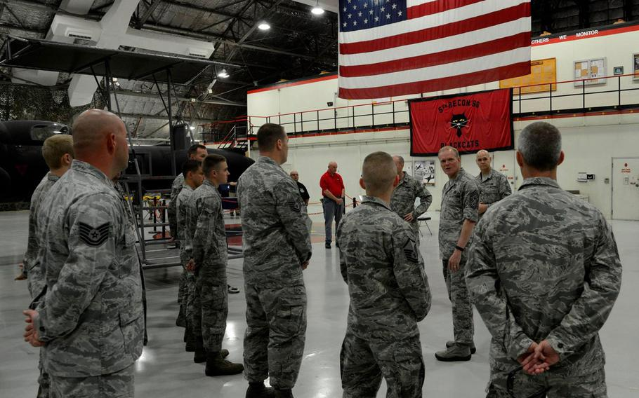 Chief Master Sgt. of the Air Force James Cody spent the morning of July 4, 2015, touring the 5th Reconnaissance Squadron and will be attending Liberty Fest at Osan Air Base in South Korea.